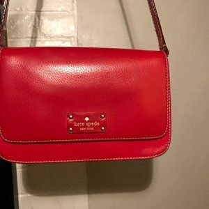 Kate Spade  Bag/Cross Body Red Leather Bag
